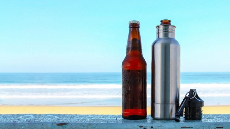 BottleKeeper on the Beach