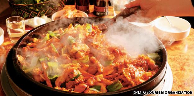 Korea food map