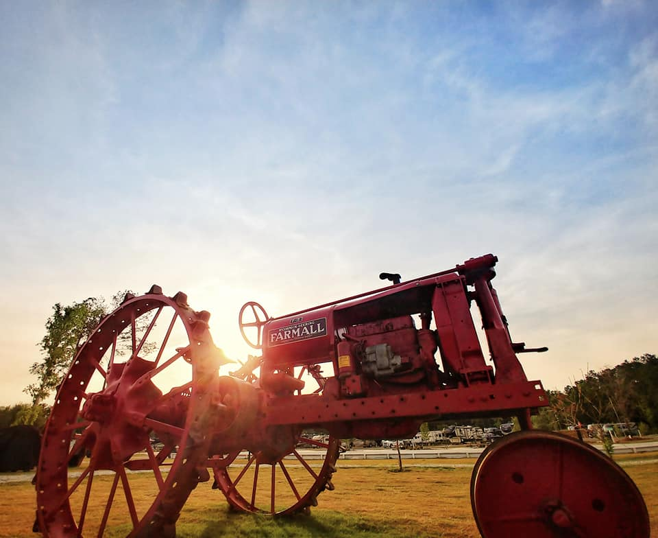 Vintage Tractor at CreekFire Motor Ranch in Savannah, GA