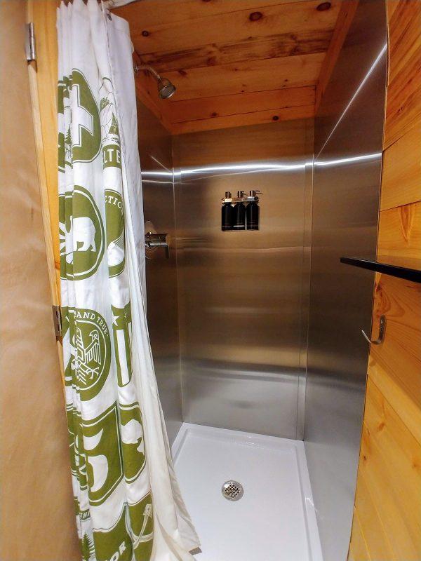 Cabin Shower at Getaway House Boston