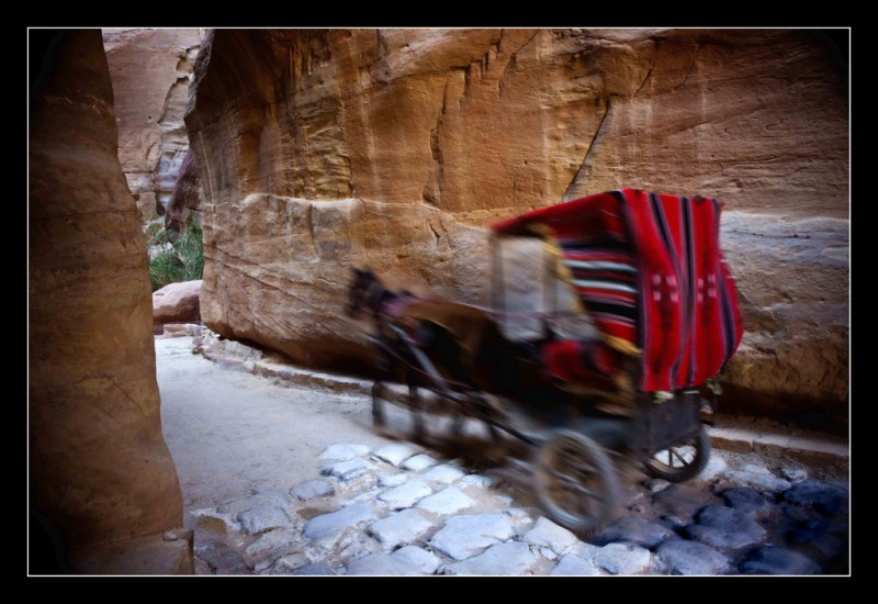 Riding Through the Siq (Petra, Jordan)