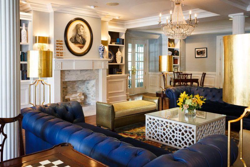 Lobby Lounge at The Marshall House in Savannah, GA