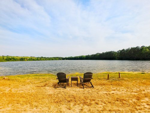 Lake Chairs at CreekFire Motor Ranch in Savannah, Georgia