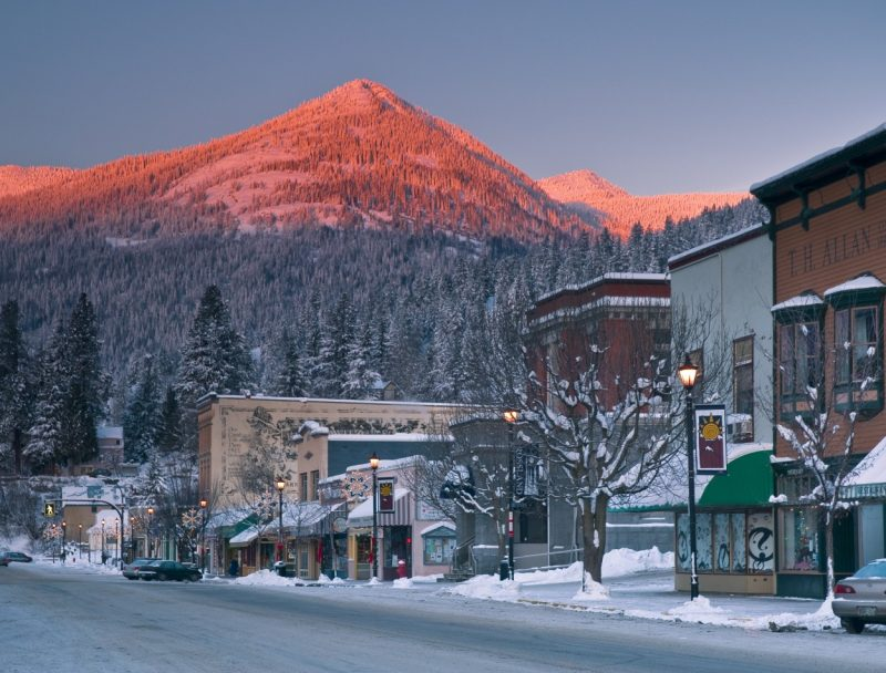 Downtown Rossland Near Red Mountain, British Columbia