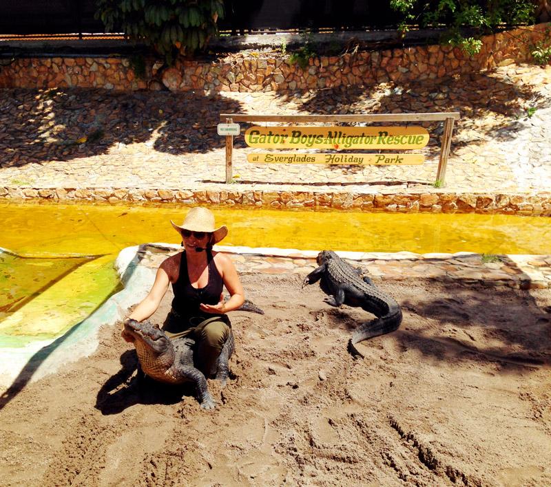 Gator Boys Alligator Show at Everglades Holiday Park, Florida