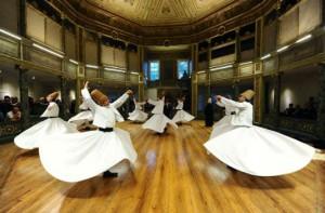Dervishes Perform at Galta Whirling Dervish hall