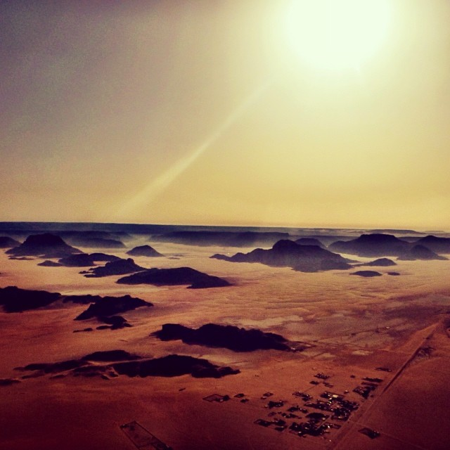 Hot Air Ballooning High Above Wadi Rum, Jordan