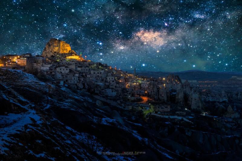 A Starry Night in Cappadocia, Turkey