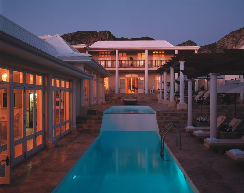 Nighttime by The Pool at Birkenhead House, Hermanus, South Africa