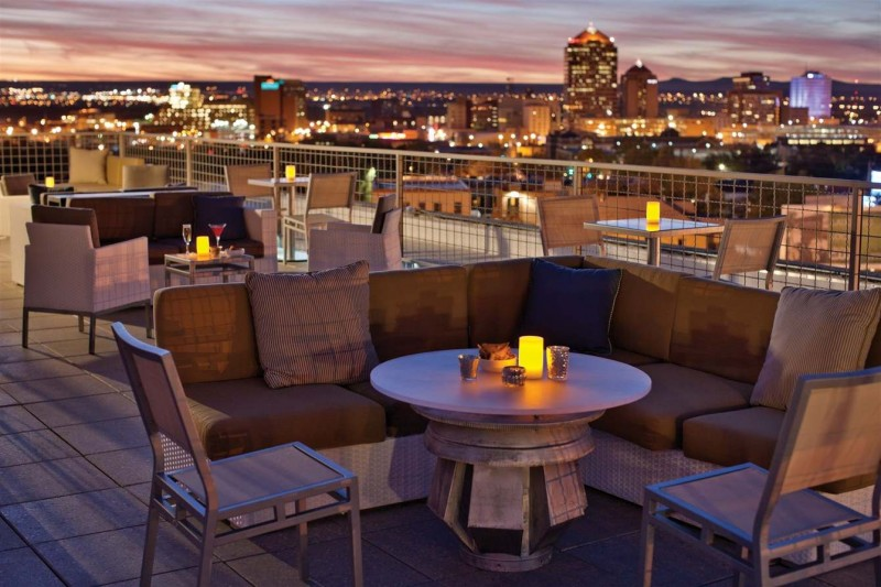 Rooftop Terrace at Albuquerque's Apothecary Lounge