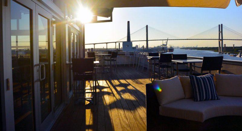 Top Deck Bar Rooftop in Savannah, Georgia
