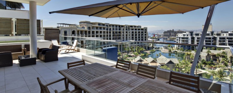Waterview Balcony at Lawhill Luxury Apartments, Cape Town, South Africa