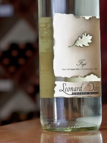Bottle at Leonard Oakes Winery in Medina, NY