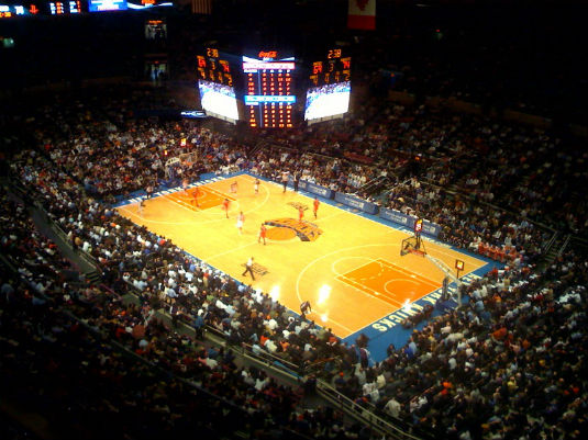 Basketball Stadium in Madison Square Garden