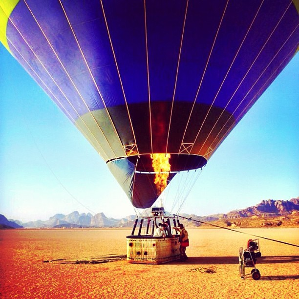 Hot Air Ballooning Wadi Rum, Jordan