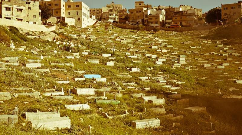 Vast Field of Graves Near Amman, Jordan