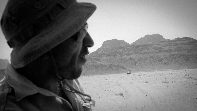 Truck following us in the Wadi Rum desert, Jordan