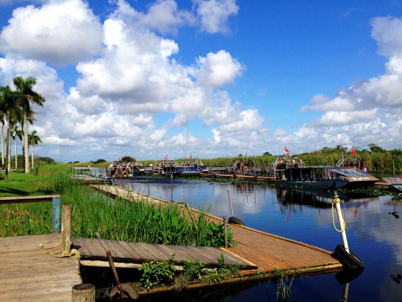 Airboat Marina at Everglades Holiday Park, Florida