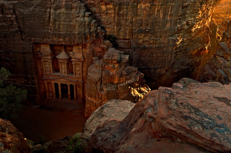 The Treasury at Sunset, Petra, Jordan