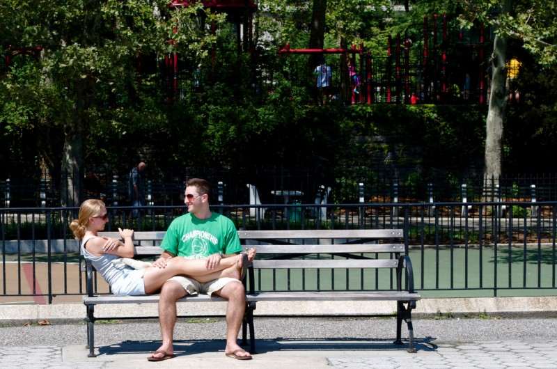 Couple on a Park Bench, New York