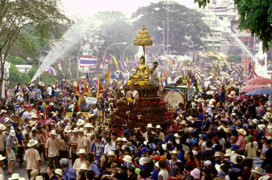 Songkran festival in Thai