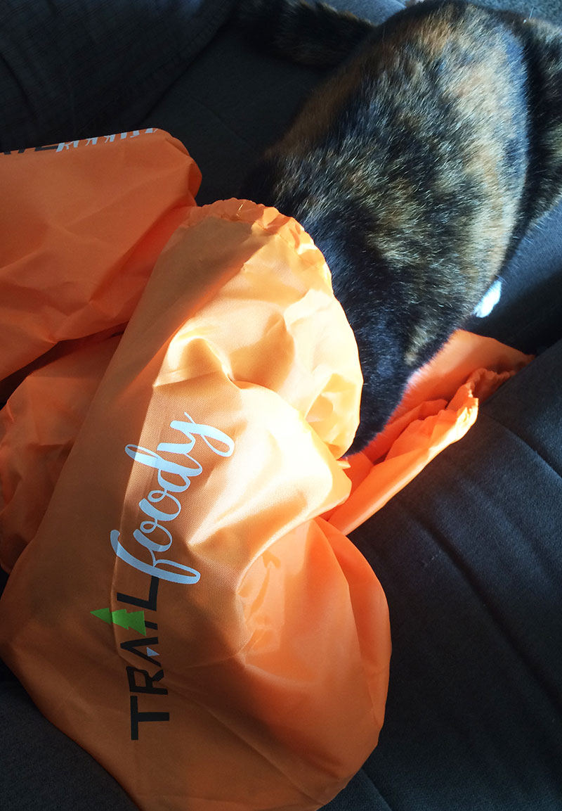 Lizzie in the Trailfoody Subscription Bag
