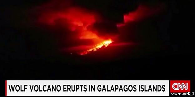 Galapagos volcano erupts, no threat to tourism