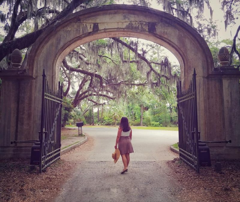 Entry Gate at Wormsloe Plantation in Savannah, GA