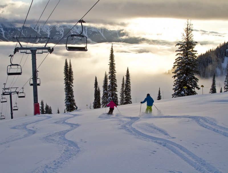 Fernie Ski Resort in British Columbia (BC), Canada