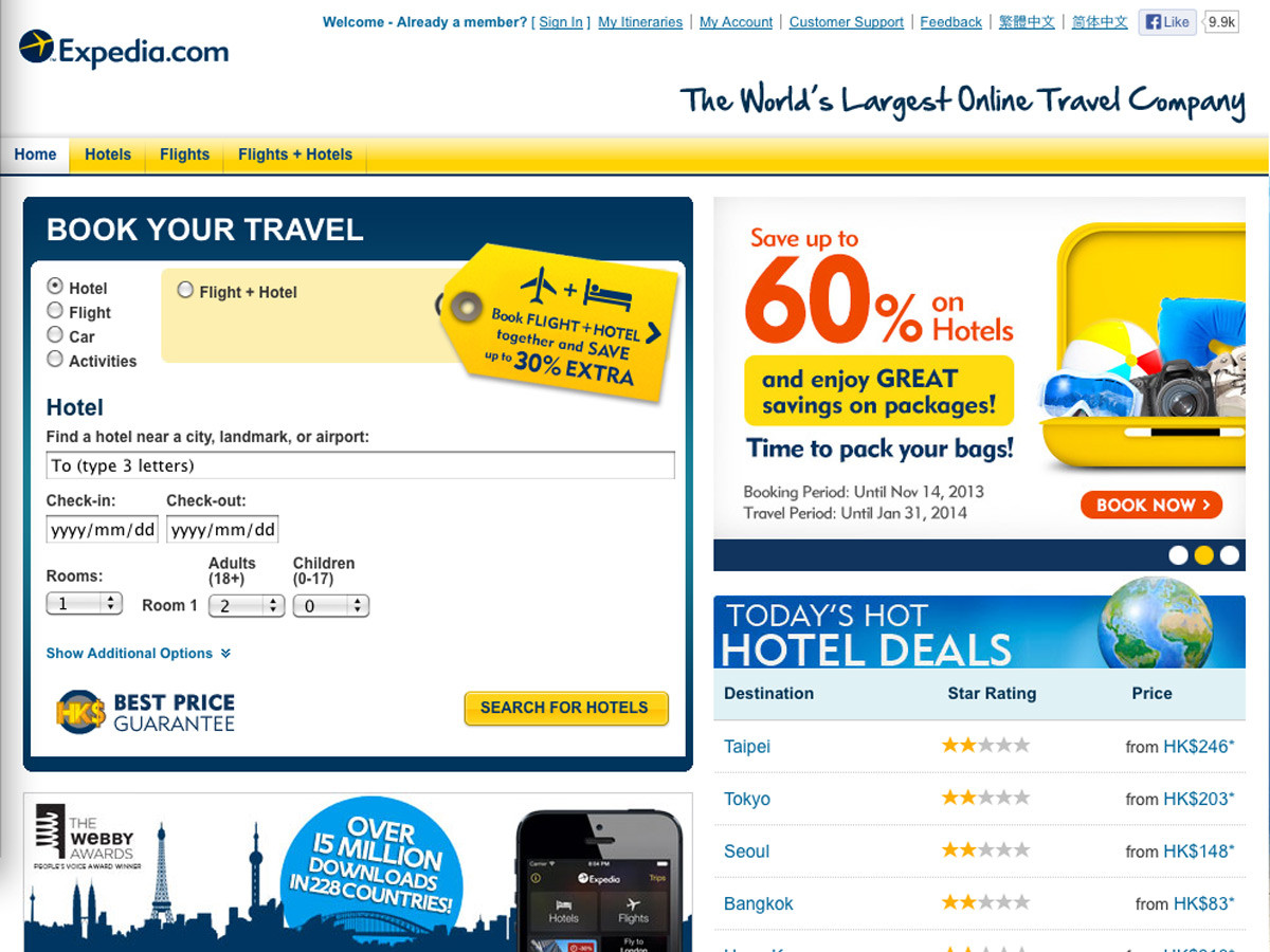 best travel booking sites
