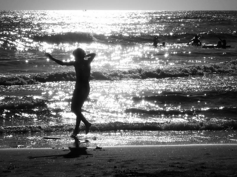 Alone on the Beach, Lazio, Italy