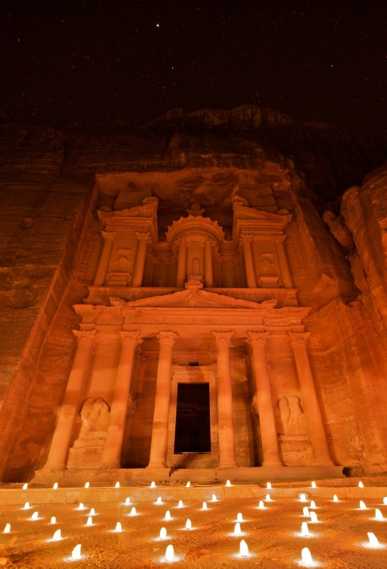 The Treasury by Candlelight (Petra, Jordan)