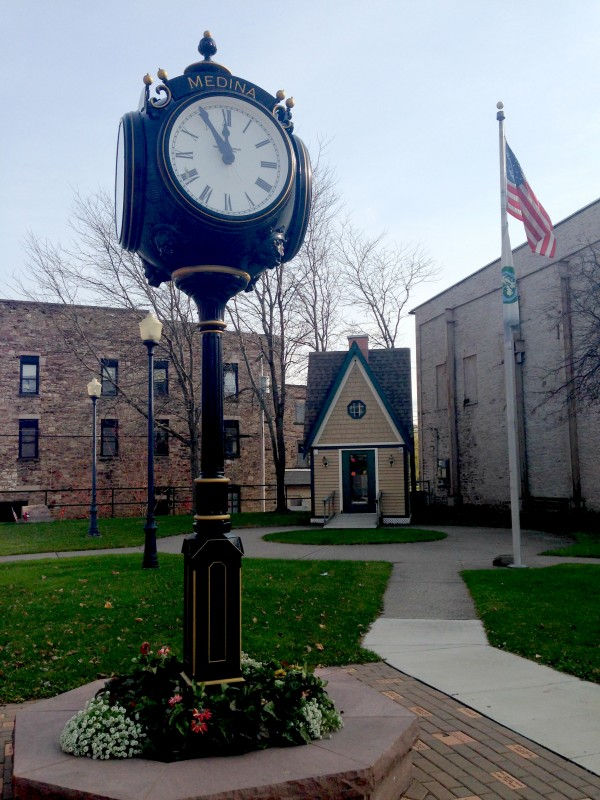 Main Street Clock in Medina, New York
