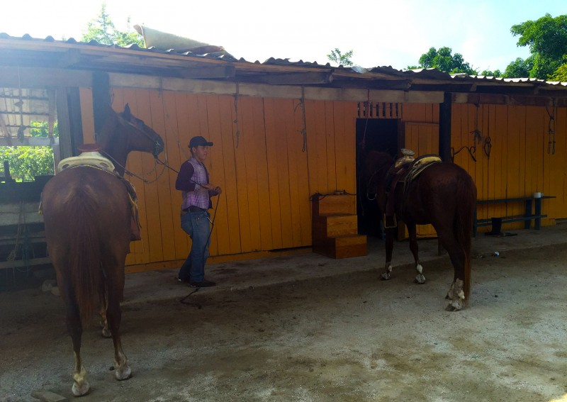 Roberto at the horse ranch near Zihuatanejo, Mexico