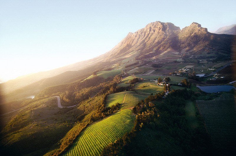 Aerial Shot of Franschhoek, South Africa