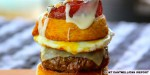 Behold the candied bacon cinnamon roll cheeseburger