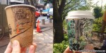 Artist creates beautiful Tokyo street scenes on coffee cups